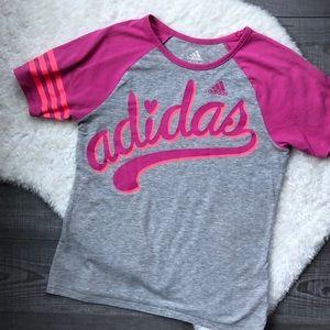 Pink Adidas Girls T Shirt size medium (10-12)
